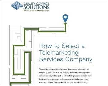 How to Select a Telemarketing Services Company Whitepaper by QCS