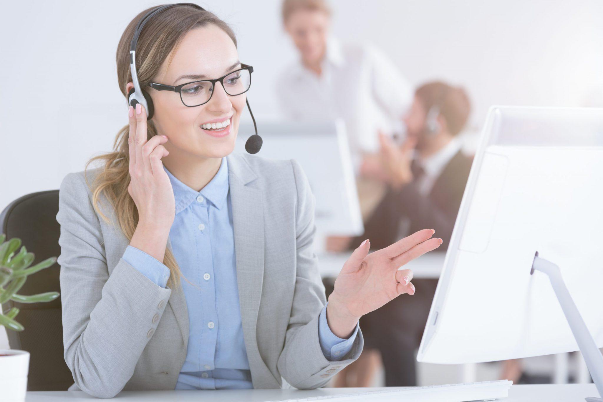 telesales talking with customer