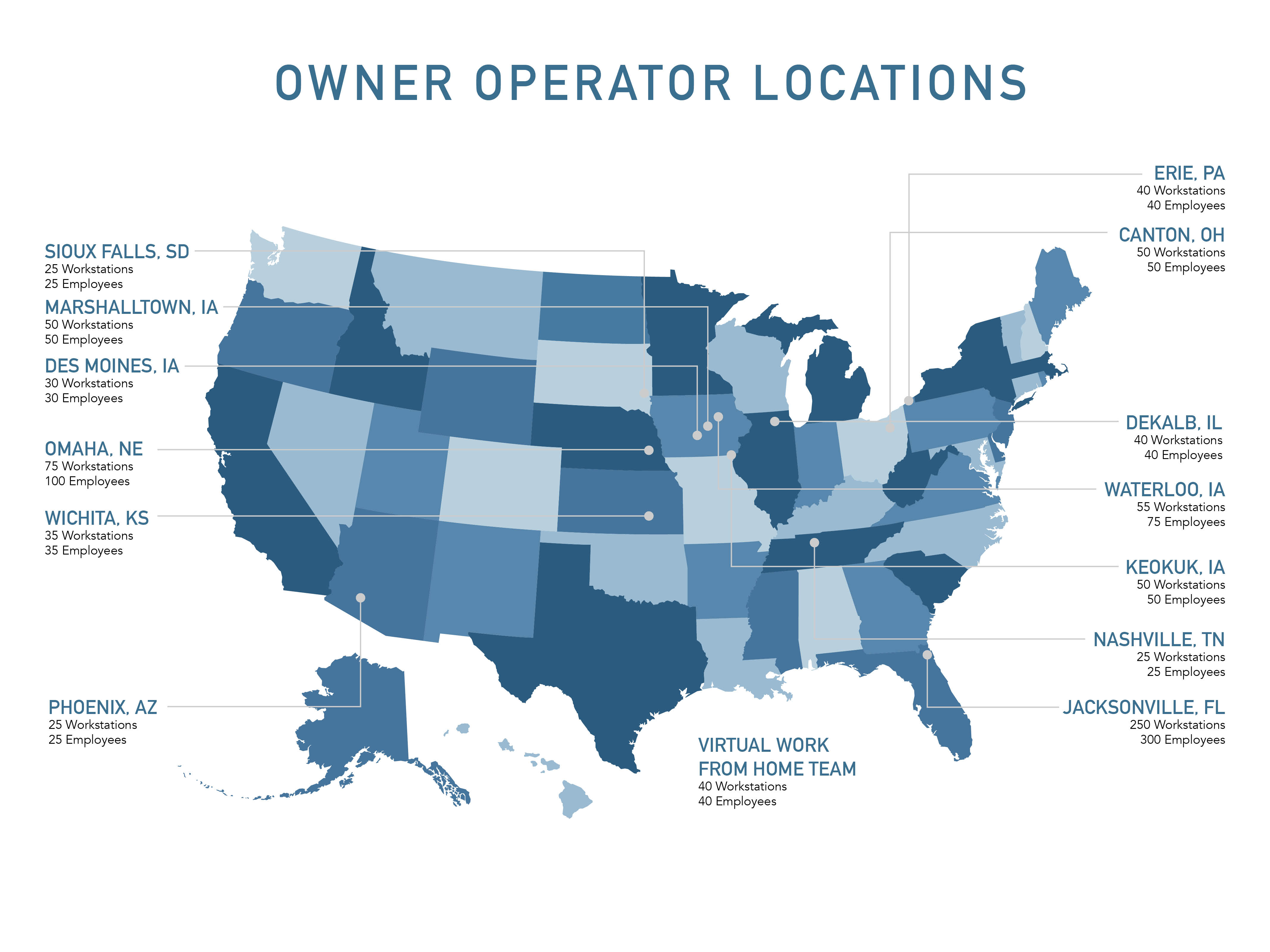 Owner Operator Location map