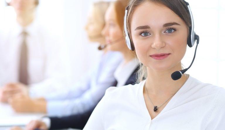 telemarketing company worker female
