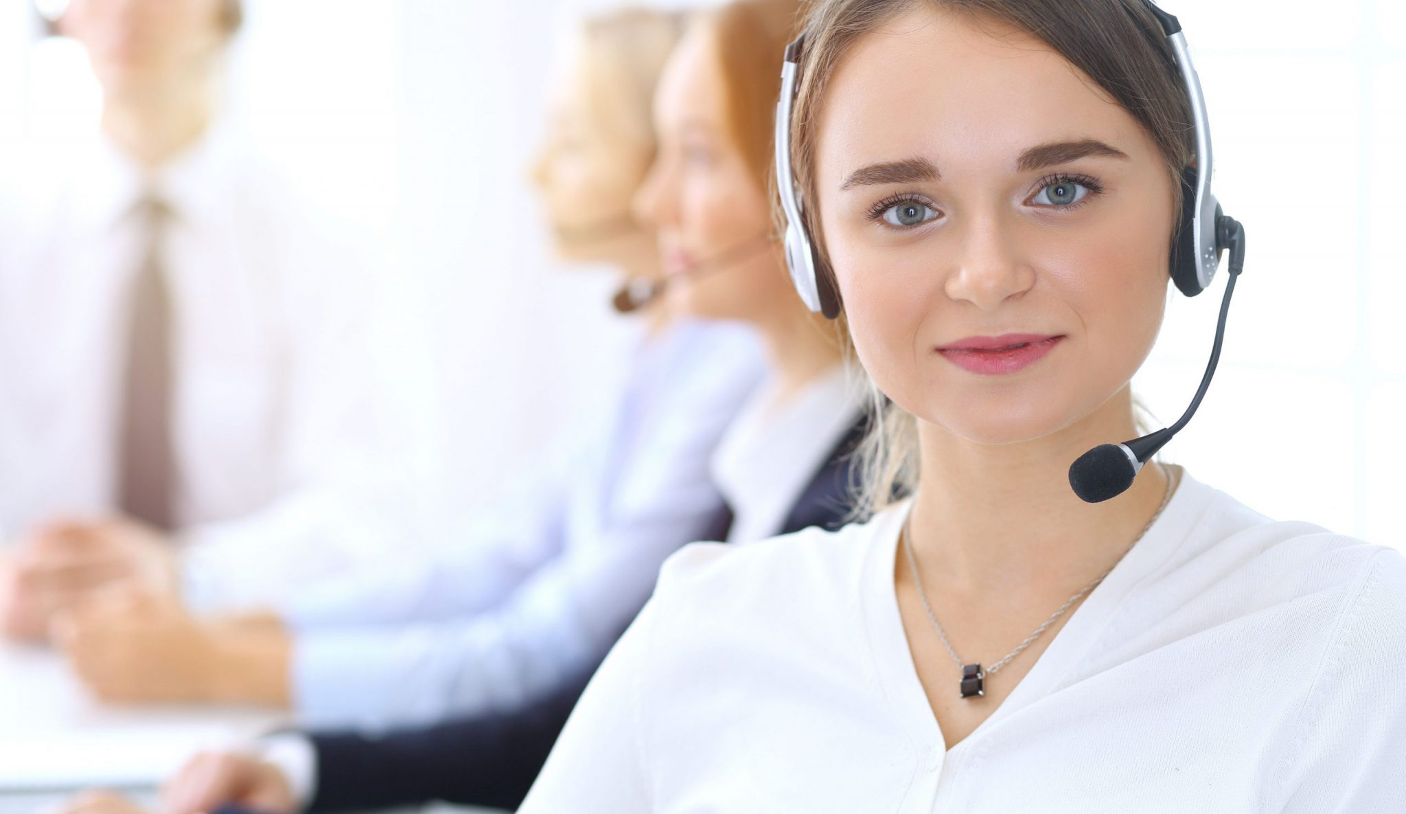 telemarketing company worker female