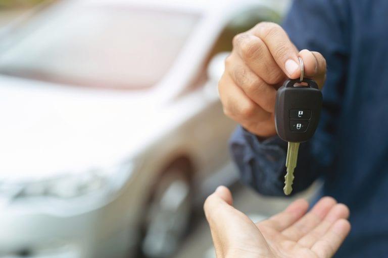 handing car keys over